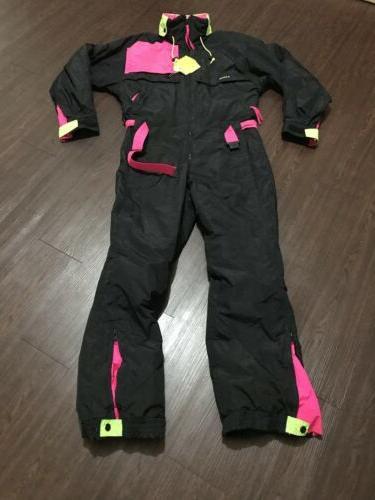 vintage mens 2000s retro ski suit size