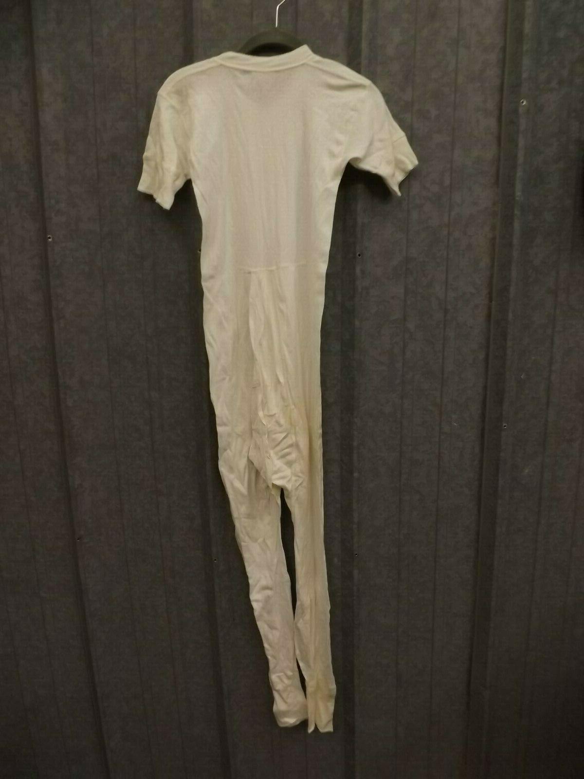 Hanes Vtg White Combed Sleeve Union Suit 36-62 Underwear