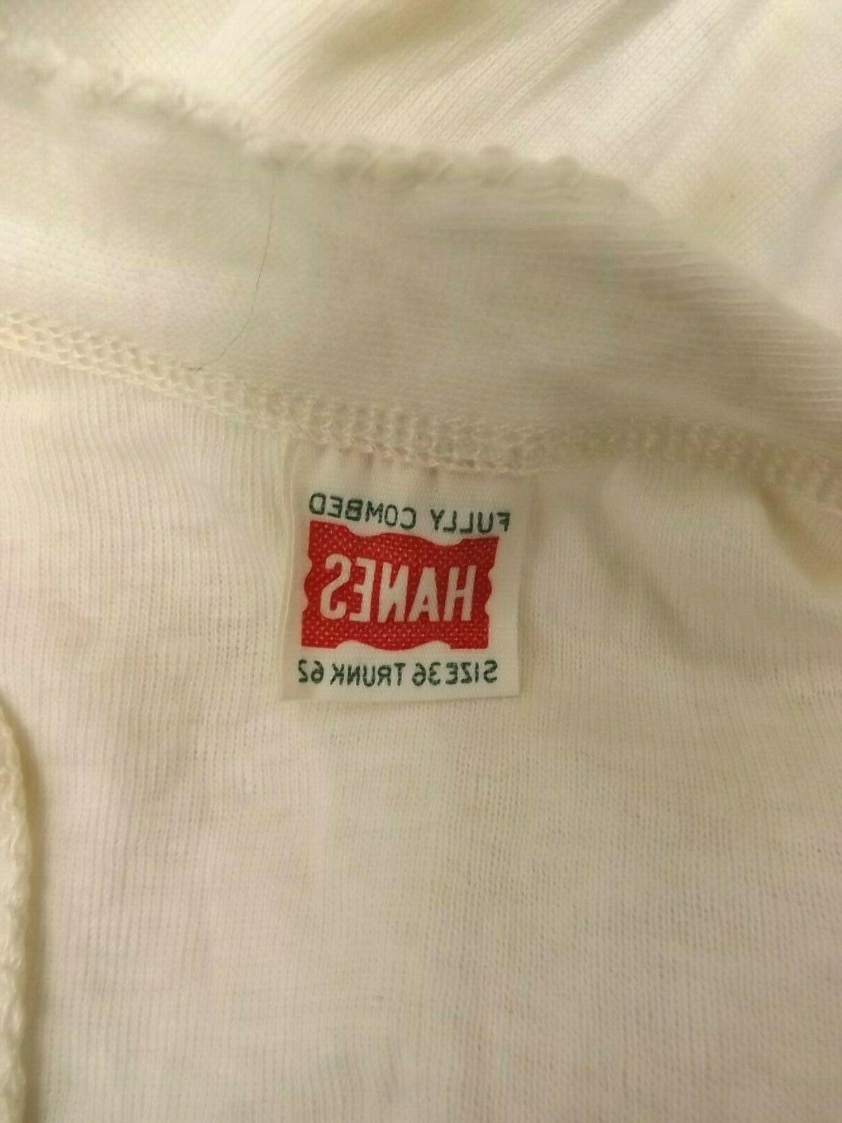 Hanes Vtg 1950s White Sleeve 36-62 Underwear
