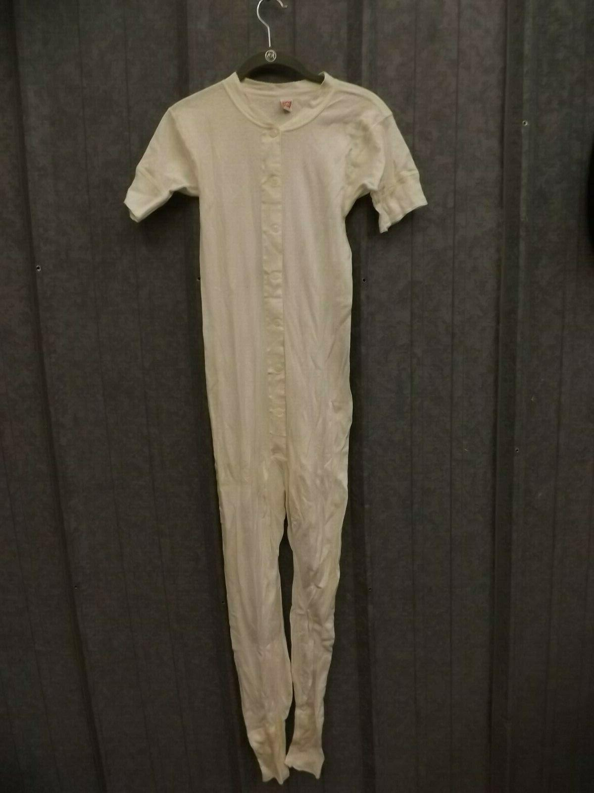 vtg new 1950s white combed cotton short
