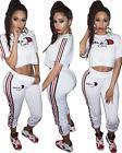 Women Champion Letter Pint Casual Sports Two-piece Suit Shor