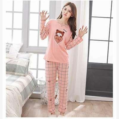 Women Sleeve Pajamas Set Printing Home