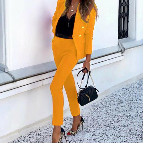Women's Blazer Suits Office Formal OL 2 Set