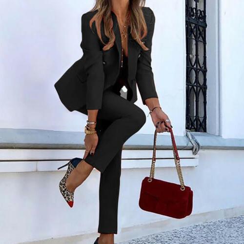 Women's Blazer Jacket Suits Office OL 2 Piece