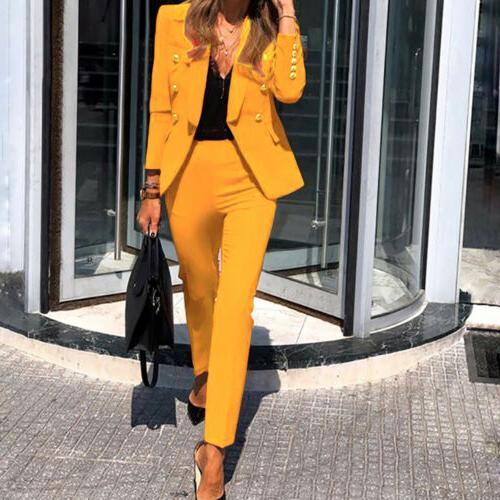 Women's Blazer Suits Office Uniform OL 2 Set