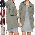 TheMogan Women's Military Washed Twill Hooded Utility Anorak