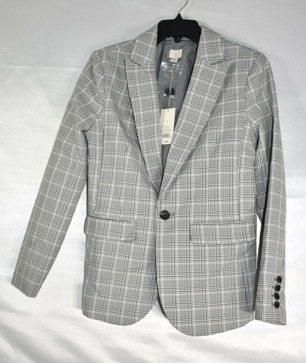 A New Day Plaid Gray, Size 8 M, NwT