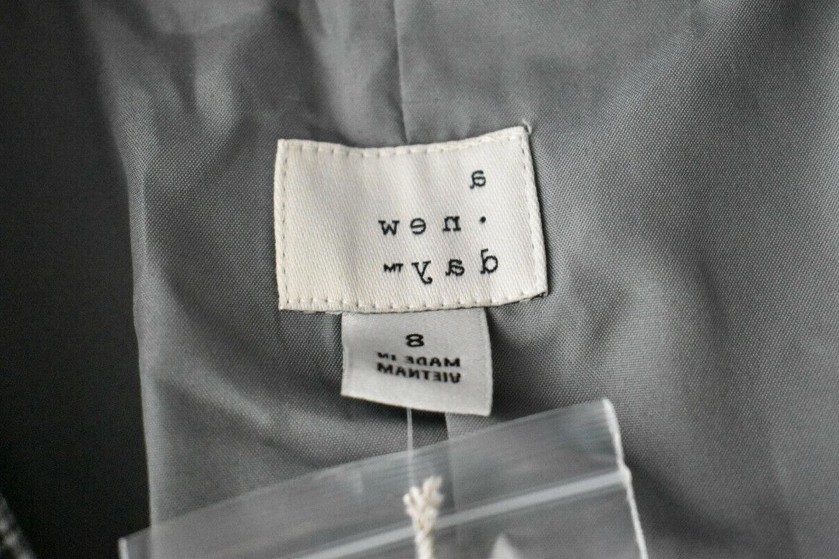 A New Day Plaid Blazer Gray, Size M,
