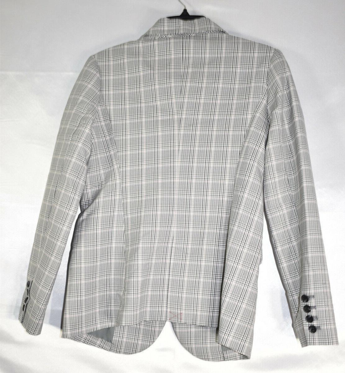 A Plaid Suit Jacket, Gray, M, NwT