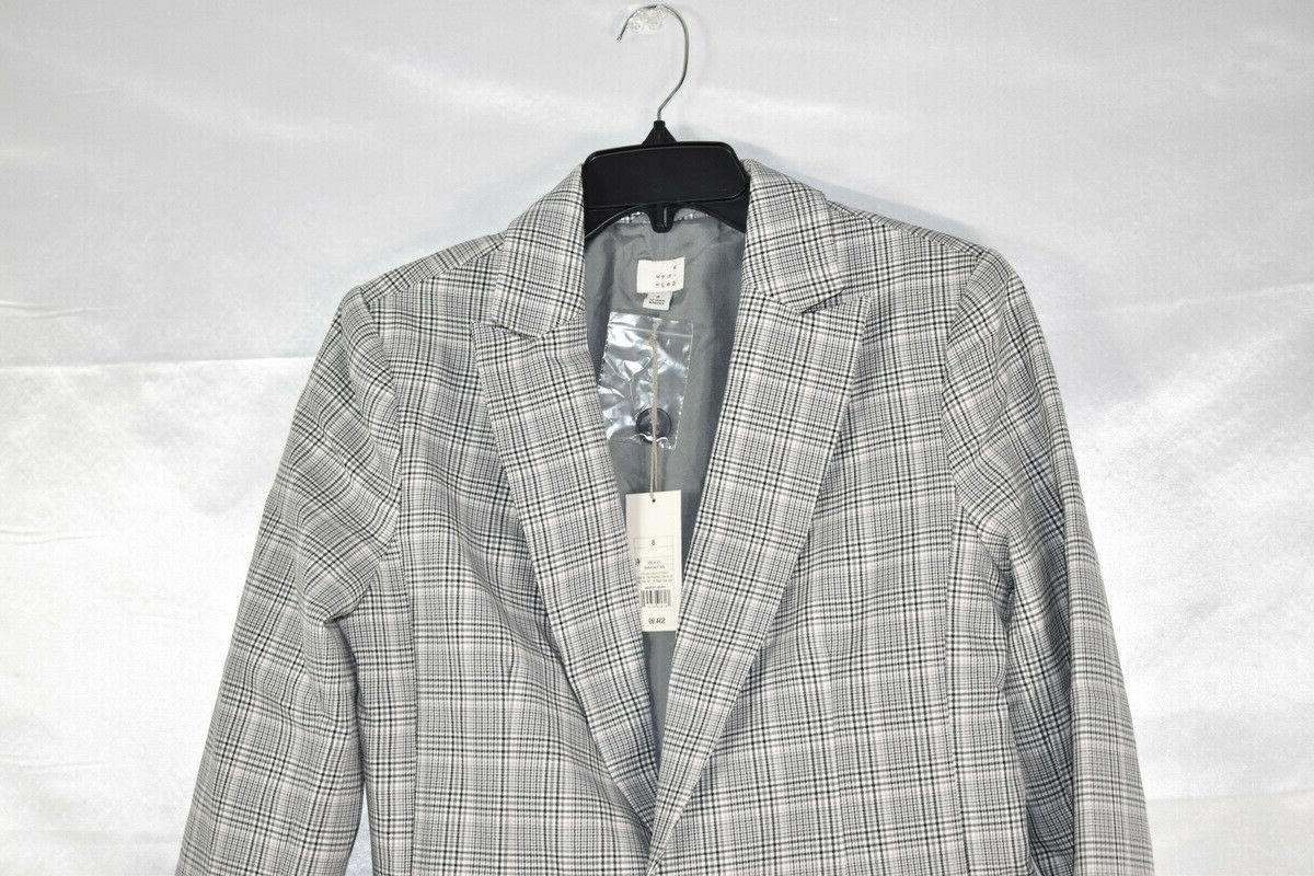 A New Plaid Suit Jacket, Gray, 8 M,