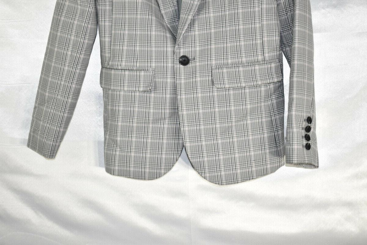 A Day Plaid Suit Jacket, Gray, M, NwT