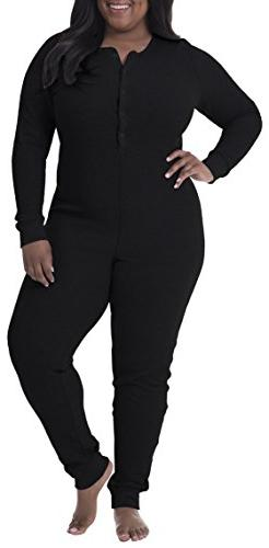 Fruit of the Loom Womens Plus Size Fit for Me Waffle Thermal Union Suit