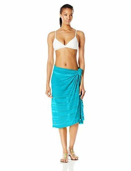ASICS Sarong Black, Blue, Skirt, Swim Suit Scarf