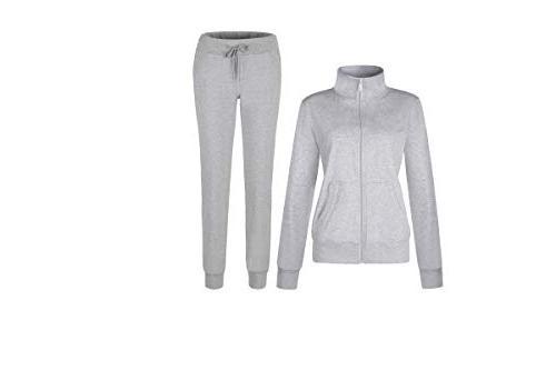 women s solid cotton sweatsuit set 2