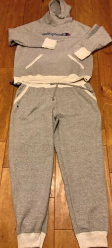 Womens Champion Sweat Suit Gray Size 2XL Hoodie Joggers NWT