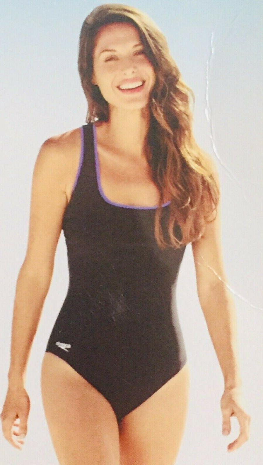 womens ultraback swimsuit bathing suit black purple