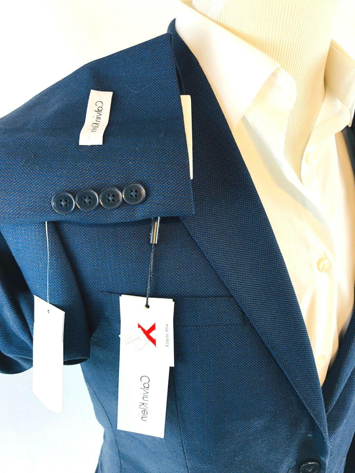 Calvin Klein X Navy Wool 2 Button 40R Front