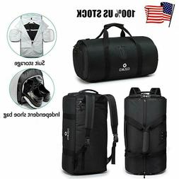 Large Duffel Bag Suit Bag Gym Backpack Carry On Business Tra
