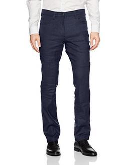 Cubavera Men's Linen-Blend 5-Pocket Pant with Stretch, Dress