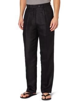 Cubavera Linen Blend Herringbone Textured Men's Dress Pant,