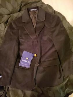 GIOBERTI little Boys Formal Velvet Blazer With Solid Buttons