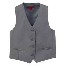 Gioberti Little Boys Grey Solid Color Four Button Classic Fo