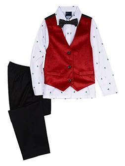 IZOD Boys' Little 4-Piece Formal Dresswear Vest Set with Bow