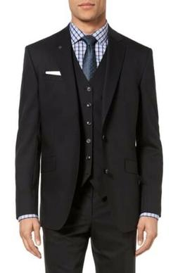 london endurance jones black wool suit 42l