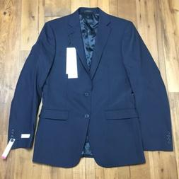 malbin navy blue slim fit stretch suit