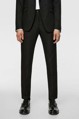 Zara Man Mens Textured Crop Suit Trousers Pants EU 44 US 34