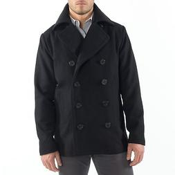 Alpine Swiss Mason Mens Wool Blend Pea Coat Jacket Double Br
