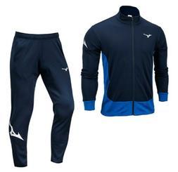 Mizuno Men Full-Zip Warm Up 19 Suit Set Navy Blue Jacket Pan