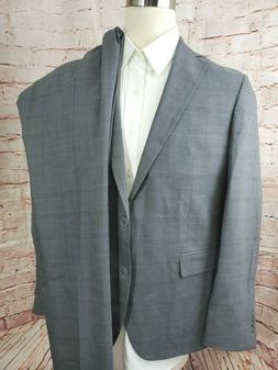 Cole Haan Men Grand.OS 2 Piece Suit Plaid Wool Blend Dual Ve
