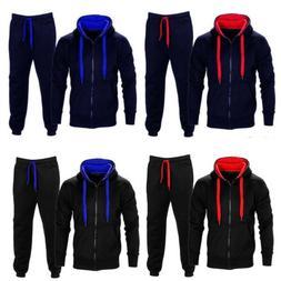 Men Gym Sports Suit Tracksuit Hooded Sweat Hoodie Long Pant