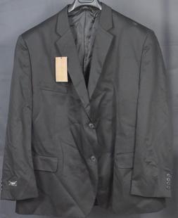 HAGGAR Men's 2-Button Suit Jacket Blazer Separate. Black. 52