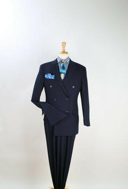 Apollo King Men's 2pc Double Breasted Suit