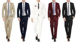 MEN'S 2PC SLIM FIT SUITS - BUSINESS FORMAL WEDDING PARTY - R