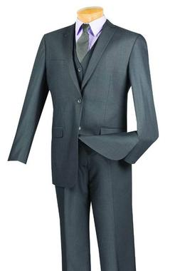 VINCI Men's Big Tall 3 Piece 2 Button Classic Fit Suit SIZES