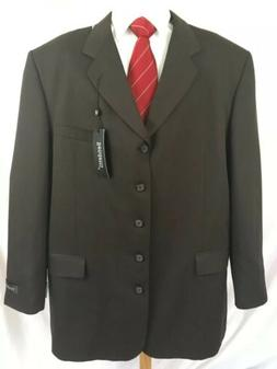 BENDETTI Men's 50L Suit Coat Four Button Brown Big and Tall