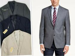 Michael Kors Men's Beige Blue Gray Sport Coat Blazer Suits S