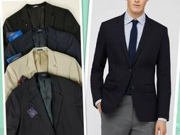 Saddlebred Men's Black Beige Blue Sport Coat Blazer Suits Si