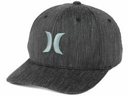 Hurley Men's Black Suits Flexfit Hat Cap - Graphite Texture