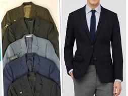 Ralph Lauren Men's Blue Gray Sport Coat Blazer Suits Size 40