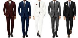 MEN'S CLASSIC FIT 2PC SUITS - BUSINESS FORMAL WEDDING PARTY