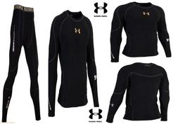Under Armour Men's Cold-Gear Long Tight and Long Sleeve Comp