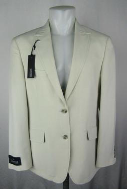 Buffalo David Bitton Men's Cream Tan Sport Coat Suit Blazer