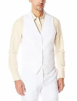 Cubavera Men's Easy Care Linen-Blend Vest - Choose SZ/Color