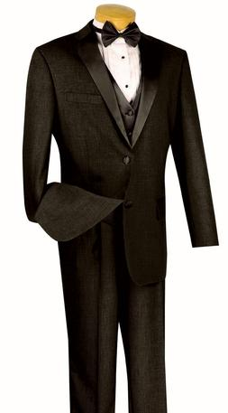 Men's Formal Tuxedo Suit Gray 4 Piece Classic Fit Wedding Pr