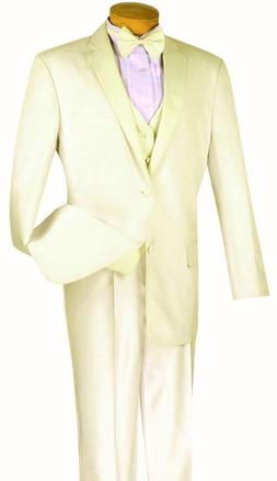 Men's Formal Tuxedo Suit Ivory 4 Piece Classic Fit Wedding P