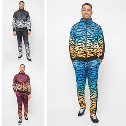 Men's Gradient Tiger Track Suits 2 Piece Pant&Jacket Sweatsu